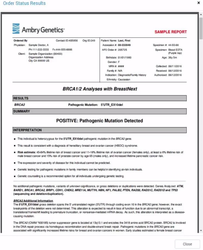 Genetic Testing Results – Progeny Genetics